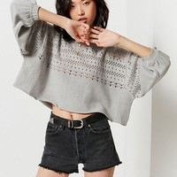 UO Rachel Pointelle Pullover Sweater | Urban Outfitters
