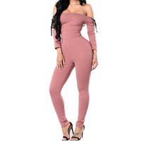 Victoria slash neck jumpsuit