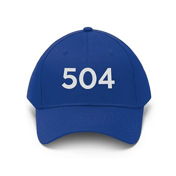 Louisiana 504 Area Code Embroidered Twill Hat