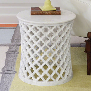 Global Views Marble Arabesque Side Table - Global Views 9-91790
