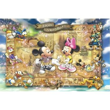 5D Diamond Painting Bon Voyage Mickey Mouse Map Kit