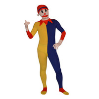 Blue And Yellow Lycra Spandex Full Body Clown Zentai [TOQ111215008] - $35.99 : Zentai, Sexy Lingerie, Zentai Suit, Chemise