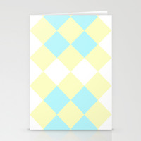 Checkers Yellow/Blue Stationery Cards by Dena Brender Photography
