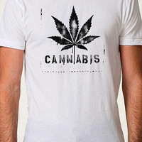 CANNABIS T-shirt Mens T shirt Womens T Shirt Funny TShirt Marijuana Tshirt Cool Pot Shirt