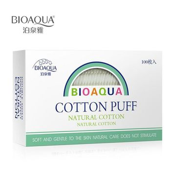 BIOAQUA 100 pcs Cotton Pad Makeup Remover maquiagem Puff Organic Cotton Skin Care	Padded Makeup Cotton Facial Cleansing Face