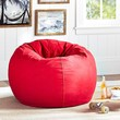 Red Washed Twill Beanbag