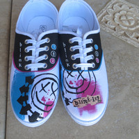 Hand Painted Shoes - Blink 182