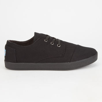 Toms Mens Paseo Sneakers Black/Black  In Sizes