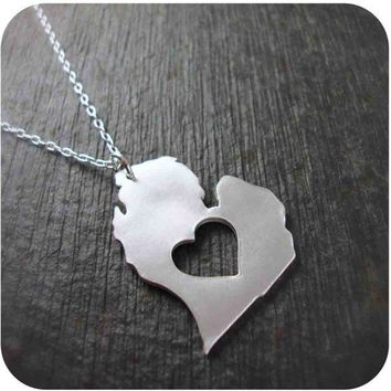 Michigan State Necklace in Silver by DestinysCreations on Etsy