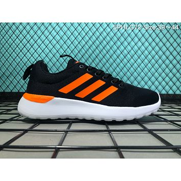kuyou A032 Adidas Neo Cloudfoam Groove Knit Light Breathable Running Shoes Black Orange