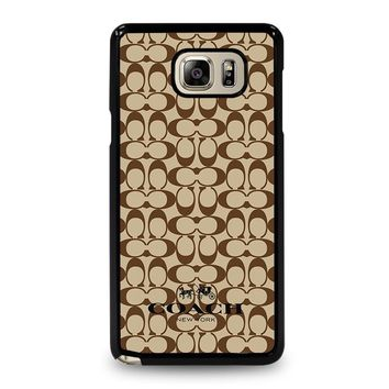 COACH NEW YORK BROWN Samsung Galaxy Note 5 Case Cover