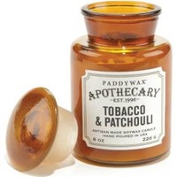 Tobacco & Patchouli Apothecary Jar Glass Candle 8 oz.