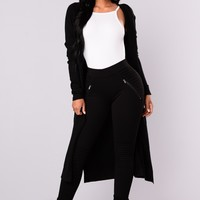 Late Afternoon Cardigan - Black