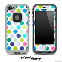 Polka Dotted V2 Fun Color Pattern Skin for the iPhone 5 or 4/4s LifeProof Case
