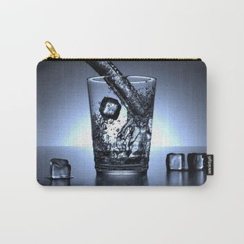 Glass of Water Carry-All Pouch by Mixed Imagery