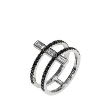 DIONEA ORCINI | 18K White Gold Linee Misteriose Mini Ring | Browns fashion & designer clothes & clothing