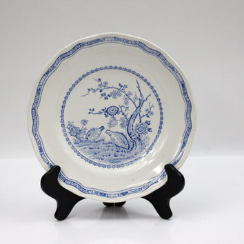 Furnivals Quail Blue Plate / Salad Plate / 1913