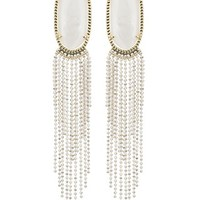 Amy Statement Earrings in White Pearl- Kendra Scott Jewelry