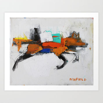Life=Motion+Color Art Print by James Penfield