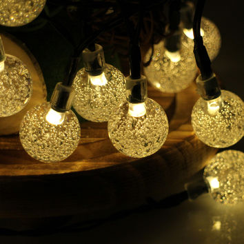 30LED 6M Waterproof Decorative Crystal Ball LED String Lights Outdoor Garden Patio Lantern Indoor Party Decoration Lightings