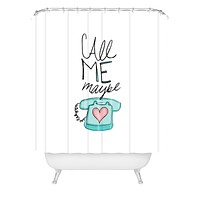 Leah Flores Call Me Maybe Shower Curtain
