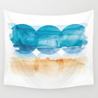 Sand and Surf Wall Tapestry by noondaydesign