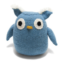 Knit Alpaca Stuffed Owl