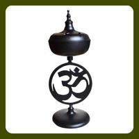 Om Black Incense Burner