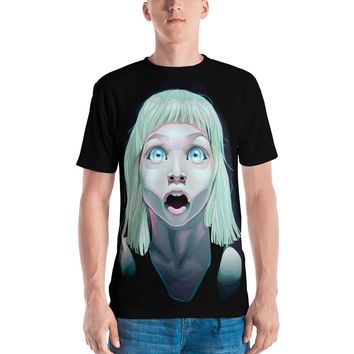 Shocked Little Girl With Blue Eyes All-Over Sublimation Men's T-Shirt