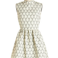 ModCloth Mid-length Sleeveless A-line As of Tessellate Dress