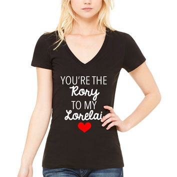 "Gilmore Girls ""You're the Rory to my Lorelai"" V-Neck T-Shirt"