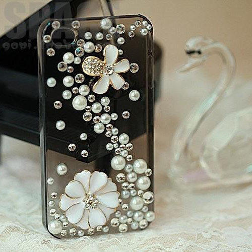 Finished Case-Pearls AndFlower Ipho.. on Luulla