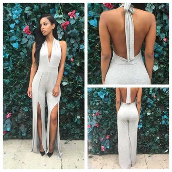 HOT DEEP V BACKLESS JUMPSUIT