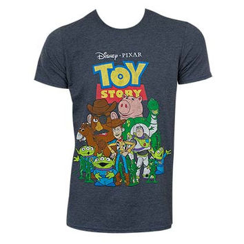 Disney Toy Story Grey Characters Tee Shirt