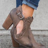 Jameson Cut Out Booties (Taupe)