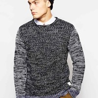 Native Youth | Native Youth Contrast Sleeve Twist Knit Jumper at ASOS