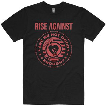 Rise Against Men's  Good Enough Tee T-shirt Black