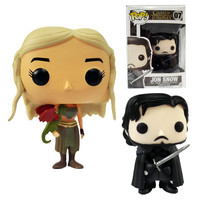 Funko POP Game of Thrones: Daenerys Targaryen  Action  Figure Jon Snow 10cm 4'' GOT Character Doll