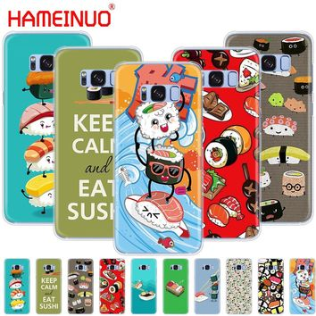 HAMEINUO Japanese cuisine Sushi food cell phone case cover for Samsung Galaxy E5 E7 Note 3,4,5 8 ON5 ON7 grand G530 2016