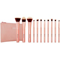 Metal Rose Makeup Brush Set and Cosmetic Bag | BH Cosmetics