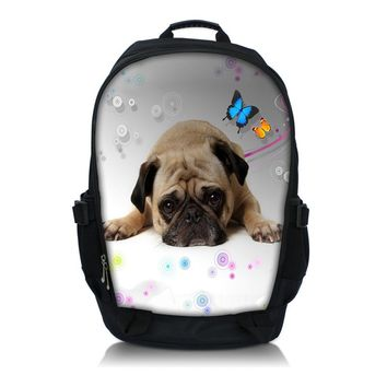 "Thinking Pug Print  Laptop Backpack School Book Backpack Travel Bag Up To 15.6"" Laptop"