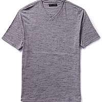 Vince Camuto Heathered V-Neck Tee