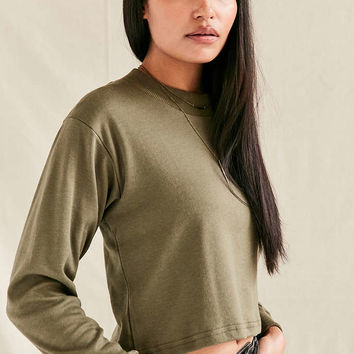 Vintage Military Long-Sleeved Mock Neck Top - Urban Outfitters