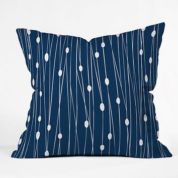 Heather Dutton Navy Entangled Throw Pillow