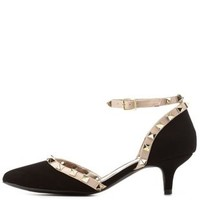 Studded D'Orsay Kitten Heels by Qupid at Charlotte Russe