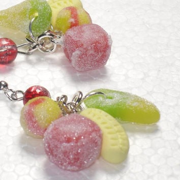Sweets Candy Earrings. Polymer Clay.