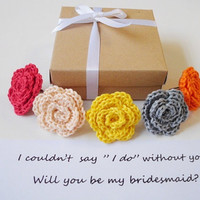 Will you be my maid of honor box Bridesmaid gift box Flower girl invitation Bridesmaid proposal Matron of Honor Bridal party proposal ideas