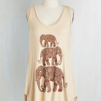 Boho Long Sleeveless Tusk Act to Follow Top