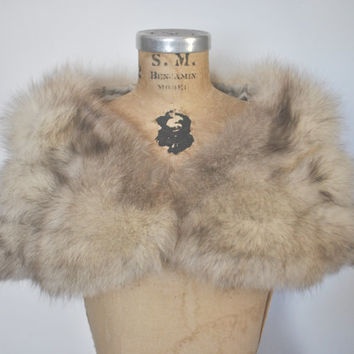 Fox Fur Stole / Capelet / bridal or party