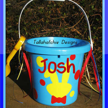 Personalized Easter Bucket Custom Easter Sand Bucket Easter Basket